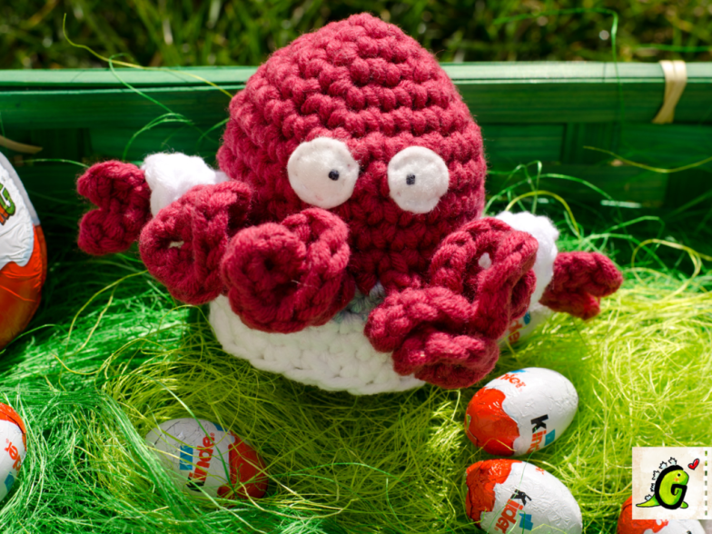 Crochet Zoidberg Egg Cozy