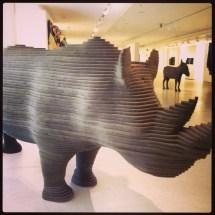 A foam rhino