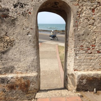 The wall of Cartagena
