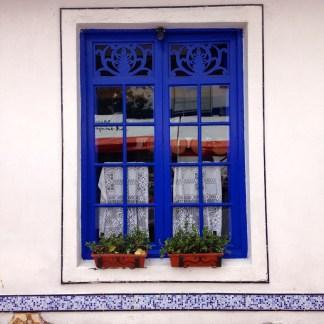 Restaurant window in Usaquen, Bogota