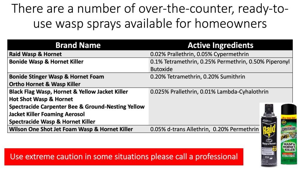 OTC Wasps Sprays
