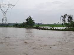 Jembatan Sungai Jajar di Desa Anggaswangi, Godong Hanyut Diterjang Derasnya Aliran Sungai, Akses Warga Putus