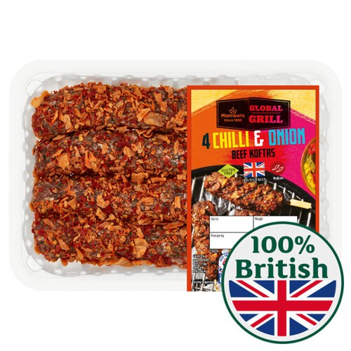 Morrisons Chilli & Onion Beef Kebabs