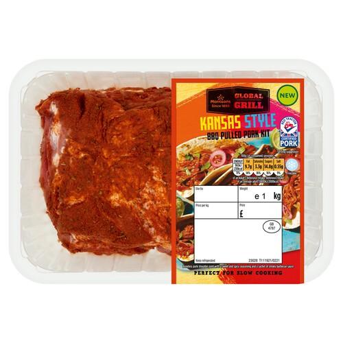 Morrisons Sweet Kansas Style Pulled Pork Bbq Kit