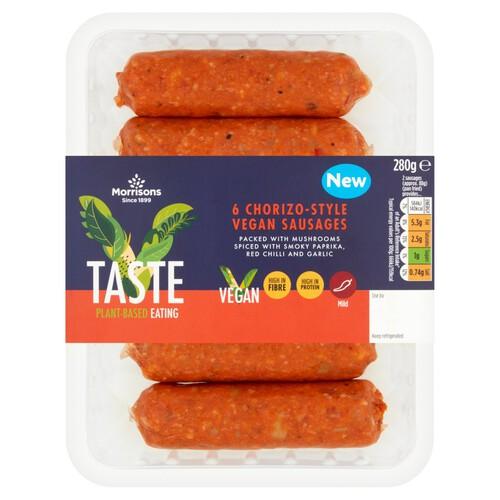 Morrisons V Taste Chorizo Sausages