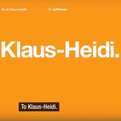 Are you Klaus-Heidi?