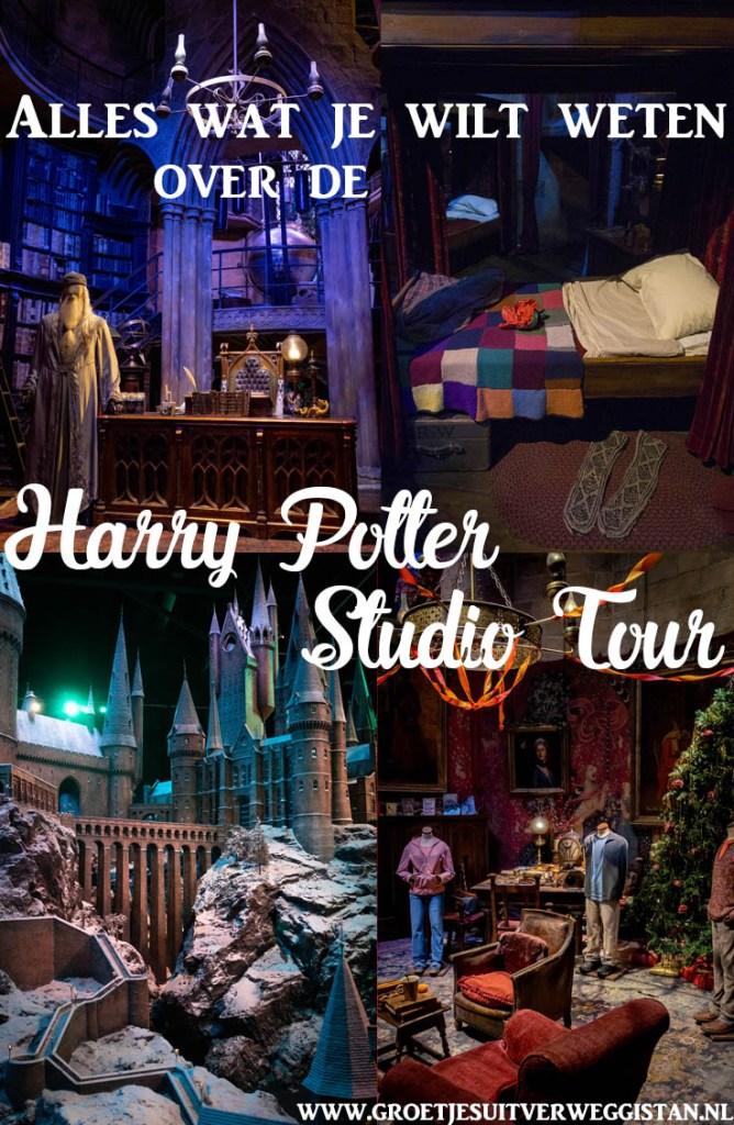 Afbeeldingen van verschillende sets in Leavesden voor Pinterest.