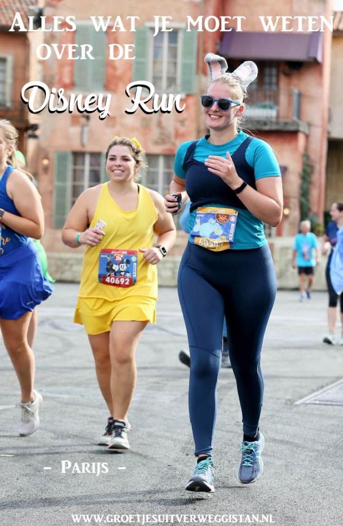 Pinterestafbeelding van hardlopende vrouw tijdens de Disney Run: alles wat je moet weten over de Disney Run