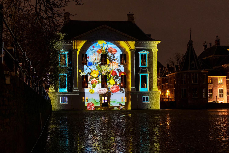 Prachtige projecties op het Mauritshuis van beroemde kunstwerken tijdens The Hague Highlights