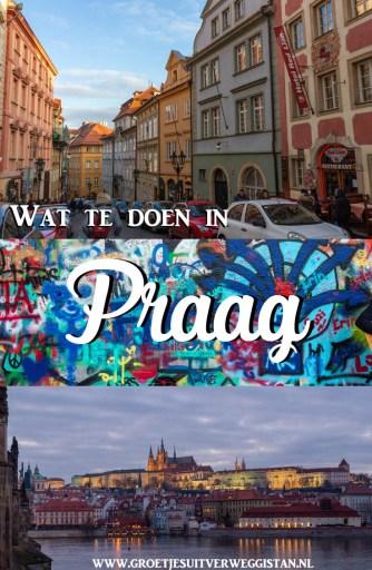 Pinterestafbeelding: wat te doen in Praag met verschillende afbeeldingen