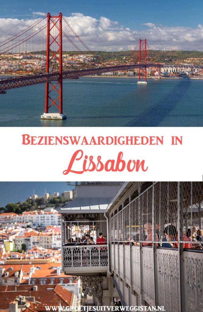 Pinterest afbeelding: bezienswaardigheden in Lissabon