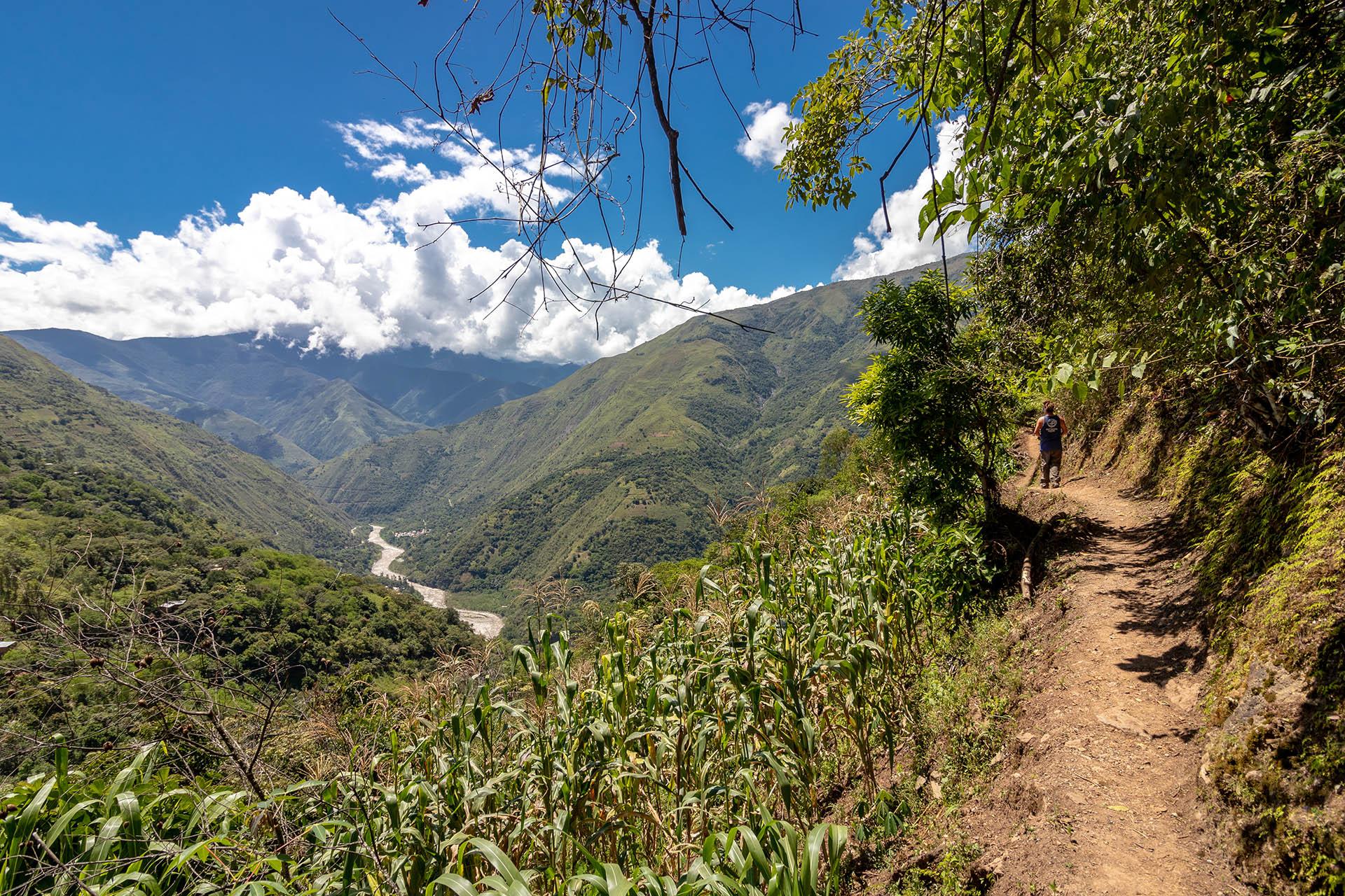 De wandelroute door de Scared Valley.
