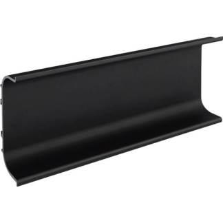 C žliabkový profil čierny elox matný