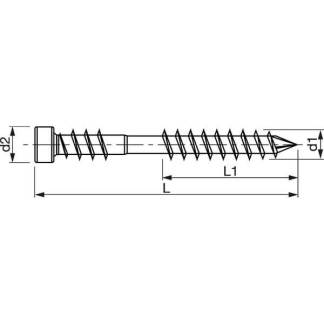 spax D terasova skrutka skica
