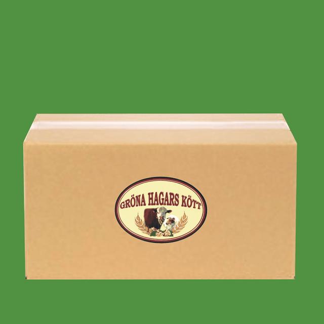 Låda med Gröna Hagars hamburgare
