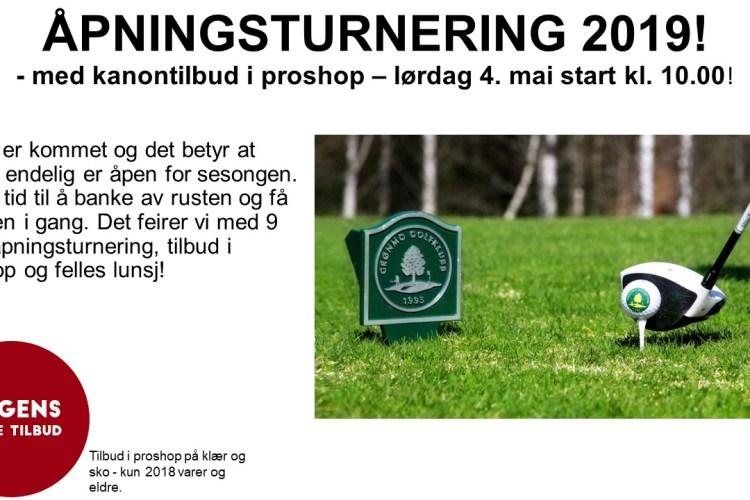 ÅPNINGSTURNERING 2019 & KANONTILBUD I PROSHOP!