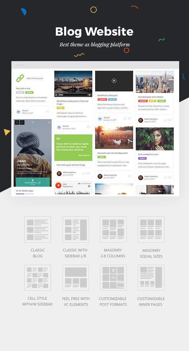 Best theme for Blogging, Blog as no Other