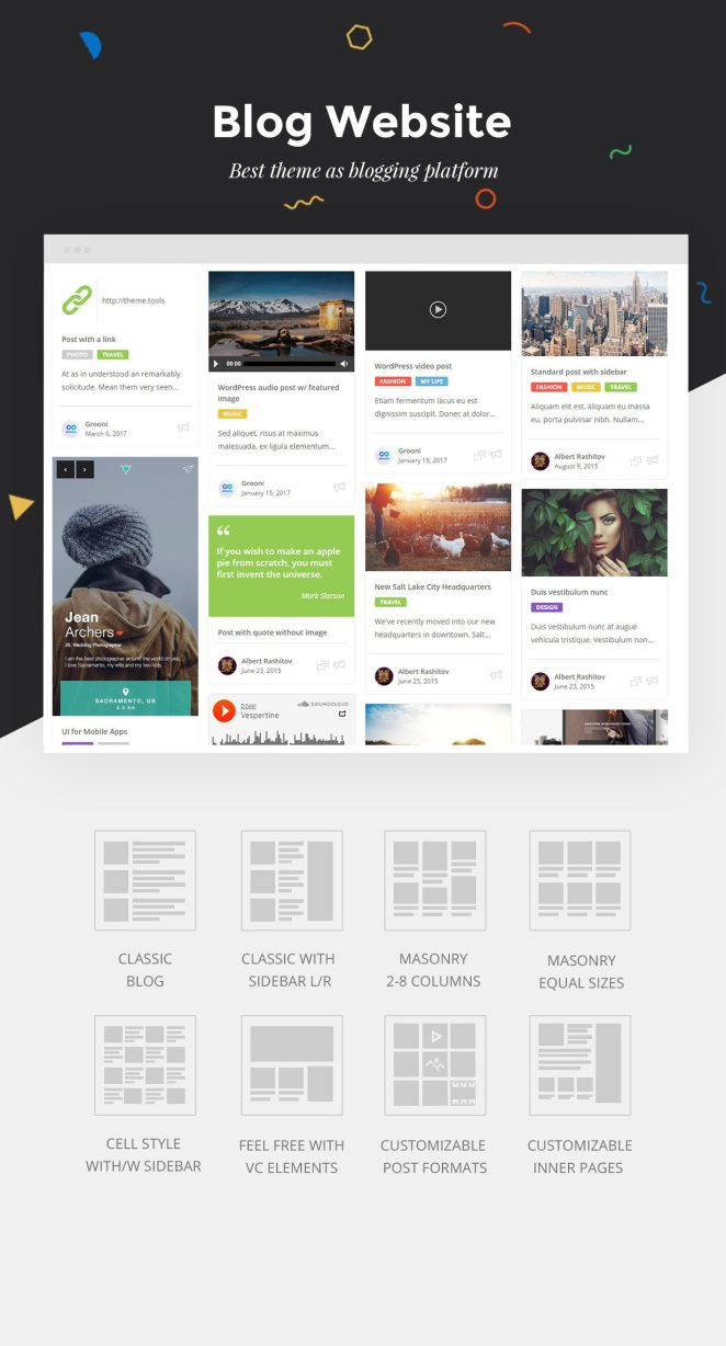 Best new theme for Blog, Bloggers and Blogging, Blog as no Other