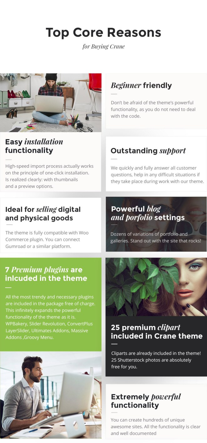 powerful features for business, corporate, company, startup, shop, ecommerce