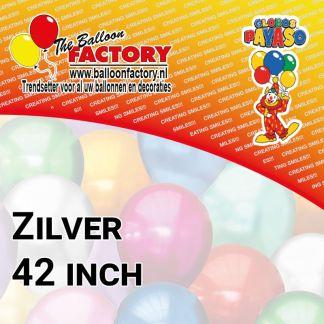 Folie Cijfers Zilver 42 inch