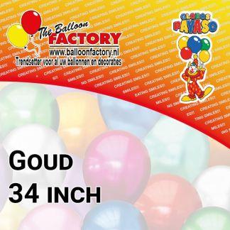 Folie Cijfers Goud 34 inch
