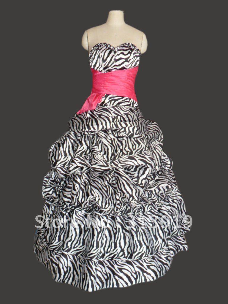 Cheap Zebra Prom Dress