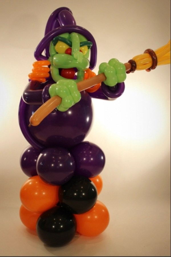 Jumbo Witch Balloon Sculpture Delivered