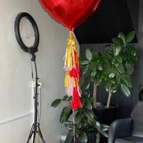 3ft Red heart balloon