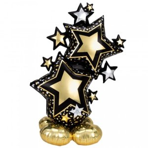 large black-gold-star-cluster-airloonz-party-balloons