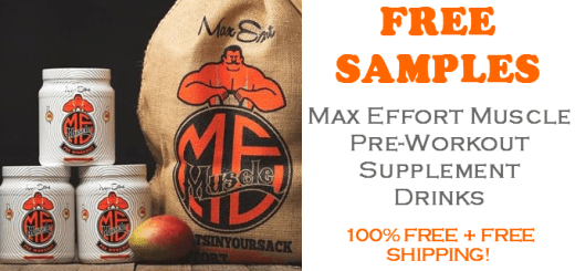 max effort muscle supplement free samples