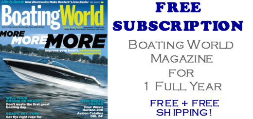 Boating World Magazine FREE Subscription