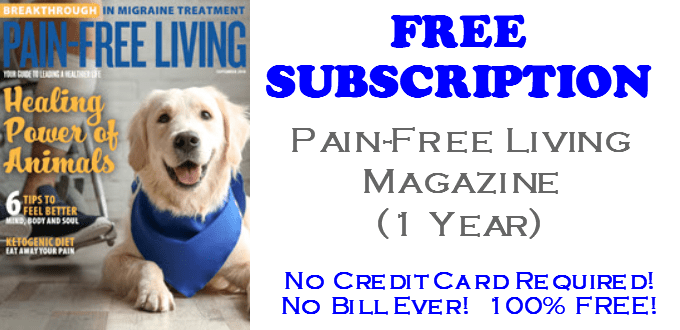 Pain-Free Living Magazine FREE Subscription