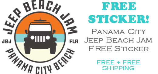 Panama City JEEP Beach Jam FREE STICKER