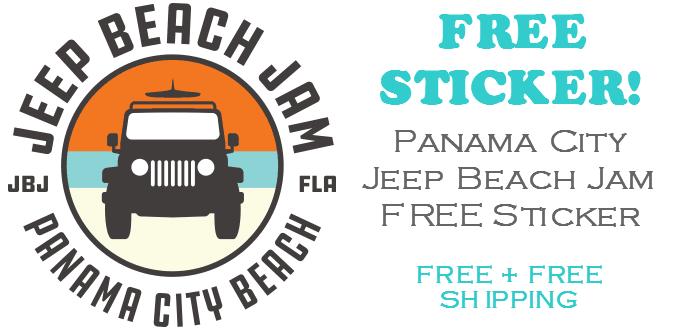 Panama City JEEP Beach Jam FREE STICKER