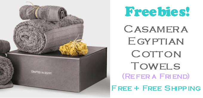 FREE Casamera Egyptian Cotton Towels