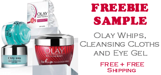 FREE SAMPLE Olay Whips Cleansing Cloths and Eye Gel