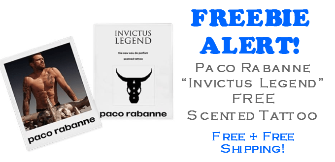 Paco Rabanne Invictus Legend FREE Scented Tattoo