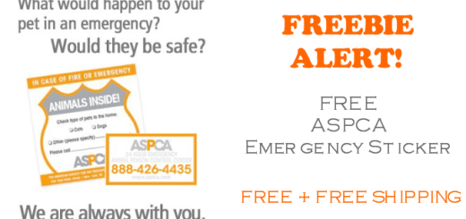 FREE ASPCA Pet Emergency Sticker