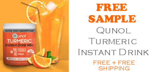 Qunol Tumeric Drink Mix FREE SAMPLE