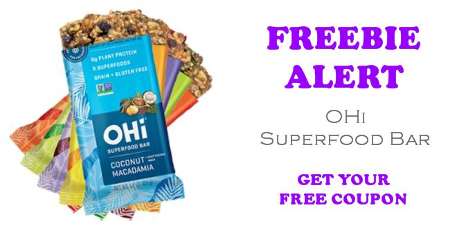 Ohi Superfood bar free sample