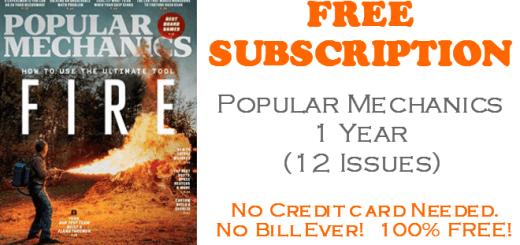 Popular Mechanics FREE Subscription - 1 Year