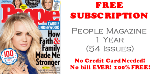 People Magazine FREE 1 Year Subscription