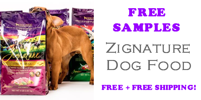 Zignature Dog Food FREE SAMPLE
