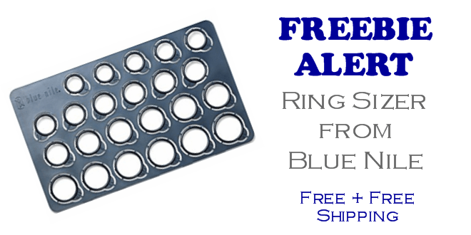 FREE Ring Sizer from Blue Nile