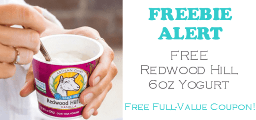 Redwood Hill Farm Yogurt FREE!