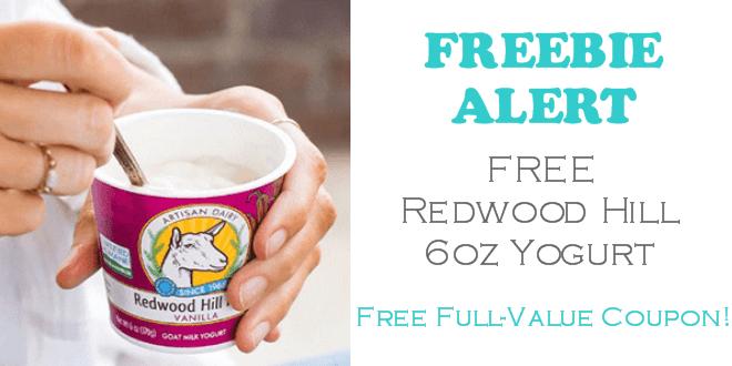 Redwood Hill Farm Yogurt FREE!