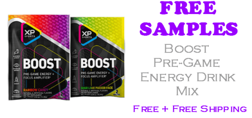 Boost Pre-Game Energy Drink Mix FREE SAMPLE
