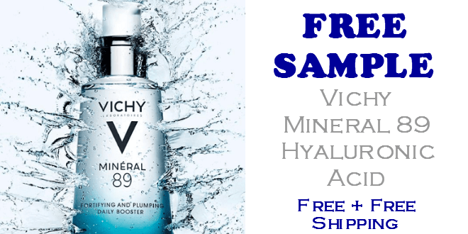 Vichy Mineral 89 Hyaluronic Acid Moisturizer FREE SAMPLE