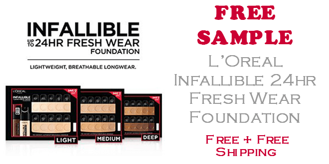 Loreal Infallible 24hr Foundation FREE SAMPLE