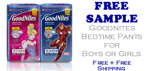 Goodnites Bedtime Pants FREE SAMPLE